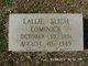 Lallie Ernestine <I>Sligh</I> Lominick