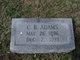"Profile photo:  Clairborne Bascom ""C.B."" Adams"