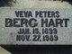 Veva <I>Peters</I> Berg Hart