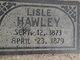 Profile photo:  Lisle Hawley