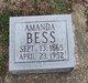 Amanda <I>Taylor</I> Bess