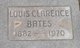 Profile photo:  Louis Clarence Bates