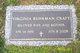 Mary Virginia <I>Buhrman</I> Craft