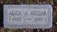 Profile photo:  Alice A <I>Artley</I> Biggar