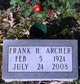 """Pvt Franklin H. """"Frank"""" Archer"""