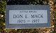 Don Edward Mack