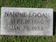 Profile photo:  Nannie Logan