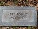 Frances Kate <I>Black</I> Bowles
