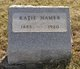 "Profile photo:  Katherine Custer ""Kate"" Hamer"