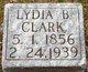 Lydia B. <I>Hollinger</I> Clark