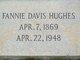 Profile photo:  Fannie Corosia <I>Davis</I> Hughes