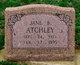 Jane B. <I>Pitts</I> Atchley