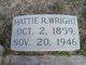 """Martha Rebecca """"Mattie"""" <I>Leftwich</I> Wright"""