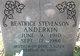 Beatrice <I>Stevenson</I> Anderkin
