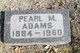 Profile photo:  Pearl <I>Rose</I> Adams