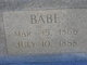 """Laura M """"Babe"""" <I>Blow</I> Littlefield"""