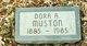 Profile photo:  Dora A <I>Sites</I> Muston