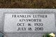 Profile photo:  Franklin Luther Ainsworth