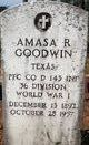 "Profile photo:  Amasa R. ""Little Amps"" Goodwin"