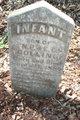 "Profile photo:  Infant Son ""of N.P. & E.C."" Bolling"
