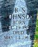 Burton Socrates Johnson