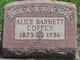 Profile photo:  Alice <I>Barnett</I> Coffey