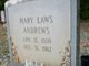 Profile photo:  Mary Laws <I>Laws</I> Andrews