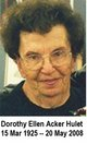 Dorothy Ellen <I>Acker</I> Hulet