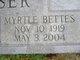 Myrtle <I>Bettes</I> Moser