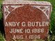 "Profile photo:  Andrew G. ""Andy"" Butler"