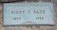 Biddy Franklin Baze