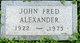 Profile photo:  John Fred Alexander