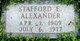 Profile photo:  Stafford Edgar Alexander