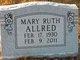 Profile photo:  Mary Ruth Allred