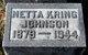 Netta <I>Kring</I> Johnson