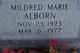 Profile photo:  Mildred Marie Alborn