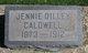 "Jane May ""Jennie"" <I>Dilley</I> Caldwell"