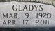 Gladys Lucene <I>Ruswinkle</I> Slusher