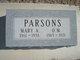 Mary Ann <I>Collins</I> Parsons