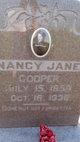 Nancy Jane <I>Pierce</I> Cooper