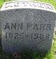 Profile photo:  Ann <I>Warwick</I> Parr