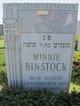 Profile photo:  Minnie Binstock
