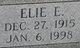 Elie E. Bishop