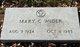 Mary C. <I>Frandsen</I> Wider