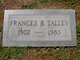 Profile photo:  Frances Beatrice Talley