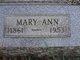 Mary Ann <I>Schmeck</I> Reppert