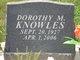 """Profile photo:  Dorothy Marion """"Dot"""" <I>Johnson</I> Knowles"""