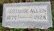 Gertrude Belle <I>Entsminger</I> Allen