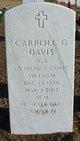 Sgt Carroll Gene Davis