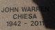 Profile photo:  John Warren Chiesa